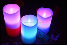 WWW Hot Com Bulk Buy Christmas Decoration Artificial Flame Battery Gradual Change Color Flickering Led Candles