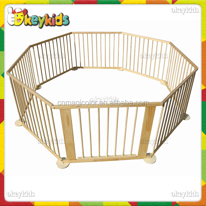 2016 wholesale baby wooden playpen,Round or Square children wooden playpen,High quality kids wooden playpen W08H006