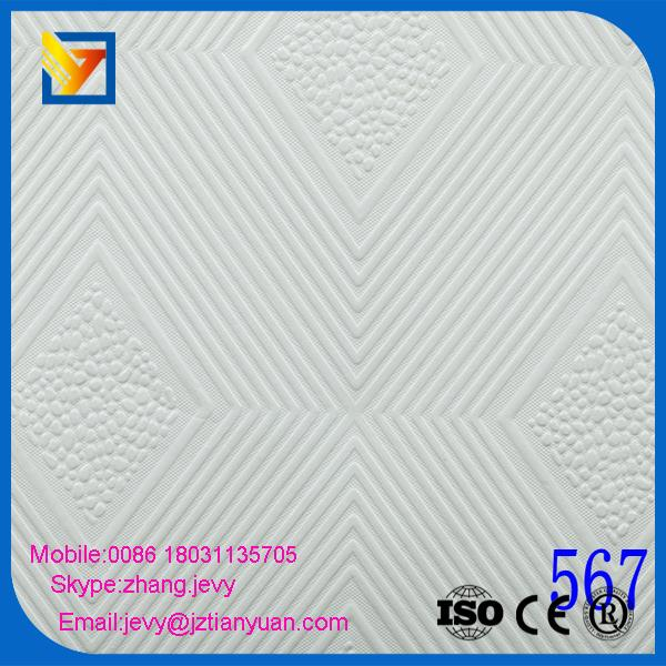 Shandong stick-on gypsum ceiling board with cheap price