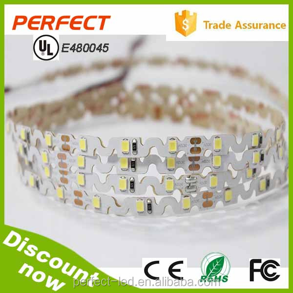 360 degree bendable smd2835 led light strip flexible led strip 12v 5m/reel 7.2w/m strip light 3years warranty with UL/ CE