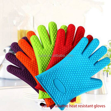 custom logo waterproof BBQ grill oven microwave oven silicone heat resistant cooking gloves
