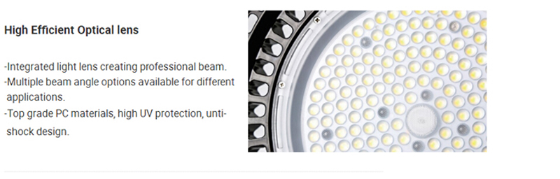 150W UFO LED led high bay light housing 130lm/w SMD3030 chip for gas station