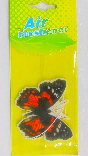 paper car hanging air freshener with butterfly shape