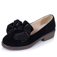 Durable Suede Leather Casual Shoes With Flower On Top
