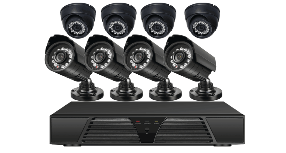 8CH 1080P 8PCS 2.0Mp P2P IP Camera CCTV System Surveillance POE NVR KIT