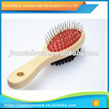 durable and fashion wood hair massage brush with healthy natural material