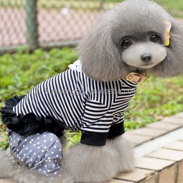 Lot of clothing new, patterns for dog clothing striped pet dress