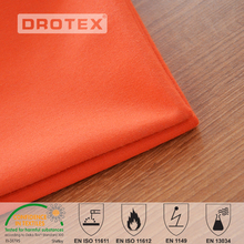 2017 wholesale Combed cotton 350GSM 4/1 sateen flame retardant fabric yard for protective suit