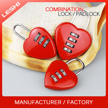 Heart Shape Digit Resettable Combination Lock