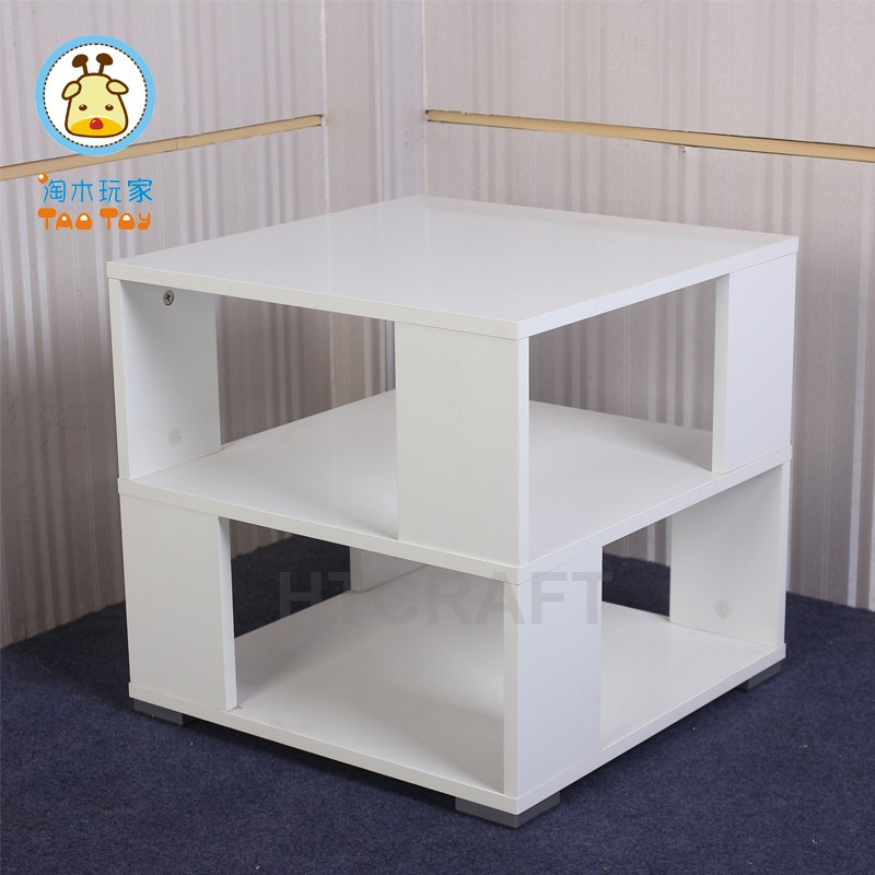 White Two-tier Wooden Tea Table For Wholesale/Rectangle Wooden Tea Table Design