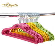 KINIDA Chinese Supplier Multicolor Household Colorful Velvet Suit Cloth Hanger