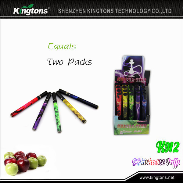 kingtons k912 e shisha 500 puff disposable colored smoke pure vapor e smoking e shisha wholesale