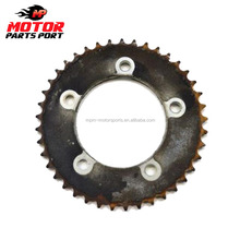 Black natural motorcycle aluminum roller chain and sprocket