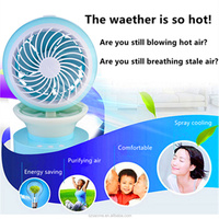 USB mini air cooler desktop fan high quality outdoor water mist fans