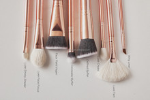 new arrival zoeva rose golden 8pieces FAHSHION makeup brushes set face brushes TOP QUALITY