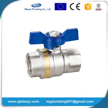 New Design Cheap 1/4'' ~ 4'' Lead Free Forged PN10 Nikel Plating Full Port PEX Brass Ball Valves with T Handle