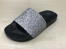 Glittering PU Upper Ladies Party Wear Shoes High Heel Sandals