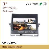 7inch digital car lcd Monitor with DVR function, quad auto monitor which have 4 split screens