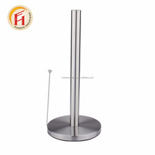 China manufacturer stainless steel kitchen free standing tissue paper roll holder/toilet roll holder