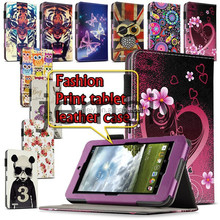 2015 Fashion Printed Wallet PU Leather Tablet Case for Asus MeMO Pad ME172V