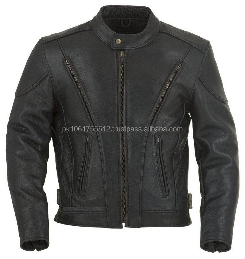2014 Custom Top Quality Leather Motorcycle Jacket/Motorbike Jacket/Leather Jacket In High Quality 100% Leather