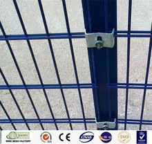PVC coated welded mesh galvanized iron twin wire panel fence with high quality