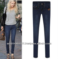 latest EUROPEAN lady denim jean 9585