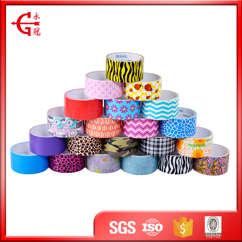 Custom waterproof print adhesive sealing and protecting cloth tape duct tape