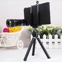 12x Optical Zoom Telescope Lens Mobile Phone Telephoto Camera Kit For Apple iphone 6 With Tripod Holder Case