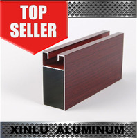 Nigeria hot sale aluminum window and door frame with wooden color