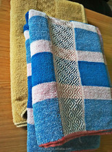 Cheap Plain Dyed Woven Cotton Terry Bath Towels