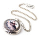 Smart pocket watch with charming pattern alloy case quartz pocket watch