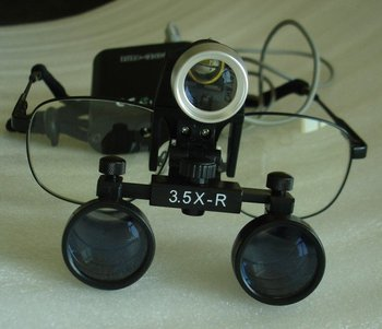 Medical LED Light mount on Loupe 2.5X 3.0X 3.5X magnifier