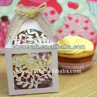 laser cut wedding supplies candy packaging boxes for wedding favor