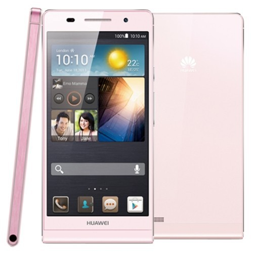 Free shipping Original Huawei Ascend P6 8GB Mobile Phone(Pink)