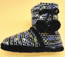 pattern wool knit shoes 2015 winter shoes 2014 fashion ladies winter boots