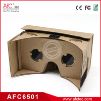 cheapest price cardboard 3d VR box good for promotion wireless hd best video goggles