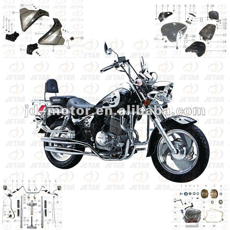 Ducar DJ150 parts motorcycle