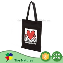 Promotional wholesale laminated cloth fashion cheap fabric canvas cotton tote bag with durable and good quality