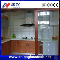 Oil and smoke insulation glass sliding opening aluminium kitchen cabinet doors