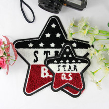 Women/Men/Kids Star Badge Applique embroidery Towel Sew on patches for clothing deal with it patch for clothes, T-shirt/Jeans