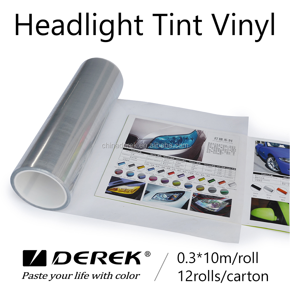 Transparent Vinyl Colored Sheets Used For Car Head Light Color Tint