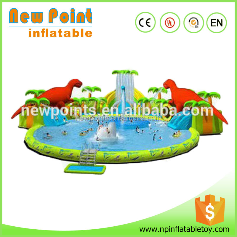 2014 newest water amusement park construction giant inflatable water park design build