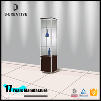 free standing floor tall tower jewelry display set design led light display case showcase for jewelry store furniture design