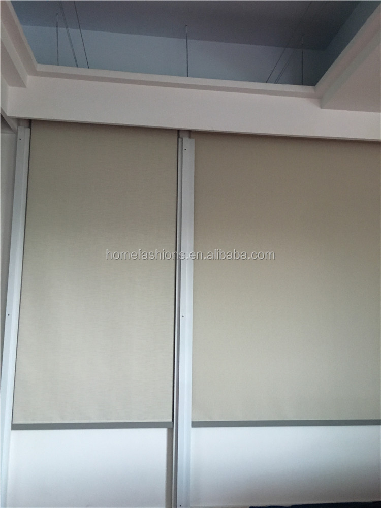 Zipper Roller Blinds Blackout Roller Blinds Motorized Window Roller Blinds Water and Wind proof