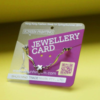 Clay coard news back Foil Jewelry card hang tag
