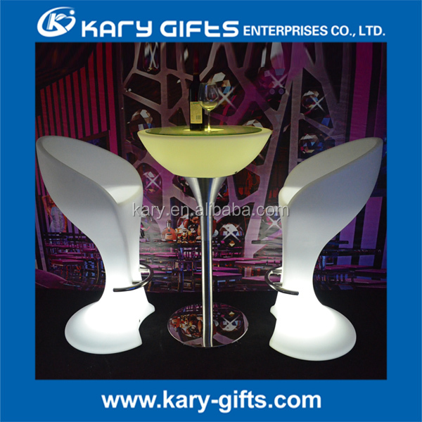 outdoor event furniture light bar illuminated led table
