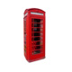 British phone booth red with printed logo for telephone or decoration