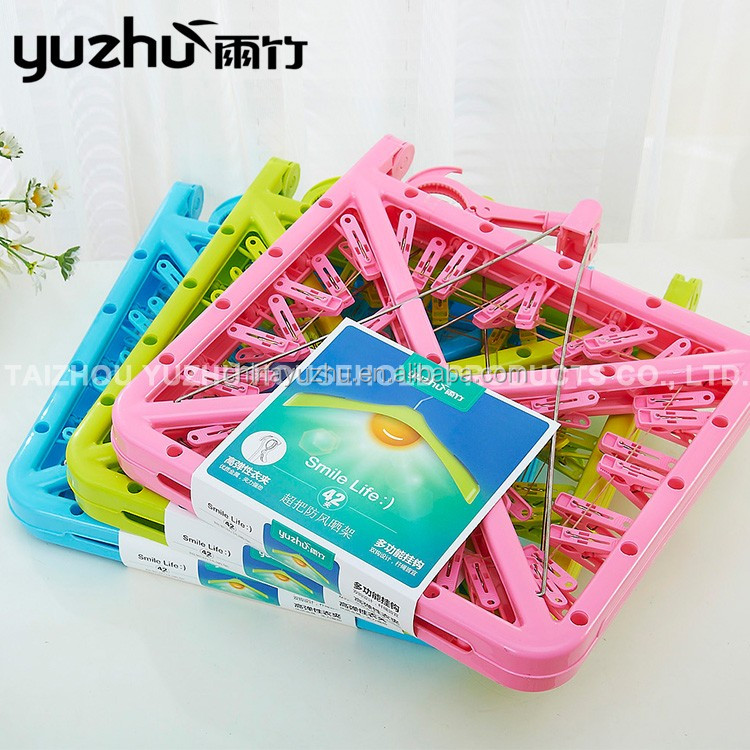 China Manufacturer Direct Supply Plastic 42 Pegs Clip Socks Display Hanger