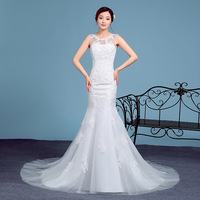 ZH2348D Wholesale sexy lady mesh fishtail wedding dress for women